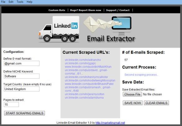 LinkedinEmailExtractor